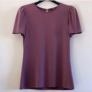 Express Purple Elbow Sleeves Tee